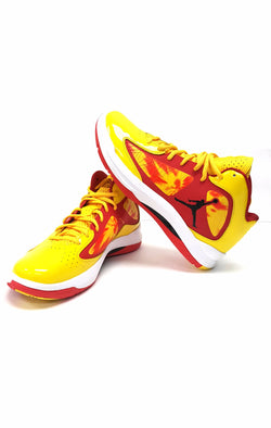 Jordan Aero Flight Basketball Shoe Yellow Red 524959 785 buymi