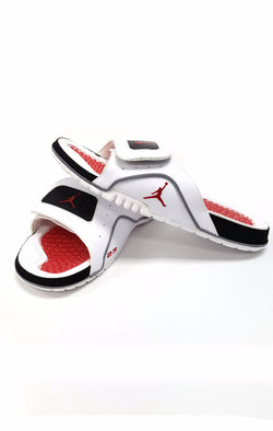 Jordan Hydro IV Retro Size 8 Slides Sandals White Red  buymi
