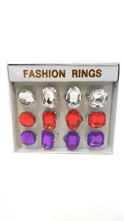 Jumbo Jeweled Rings Assortment 1 Dozen buymi