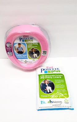 Kalencom 2 in 1 Potette Plus Portable Potty Training Seat Pink