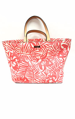 Kate Spade Jules Pink Floral Grant St Grainy Vinyl Shopper Tote buymi