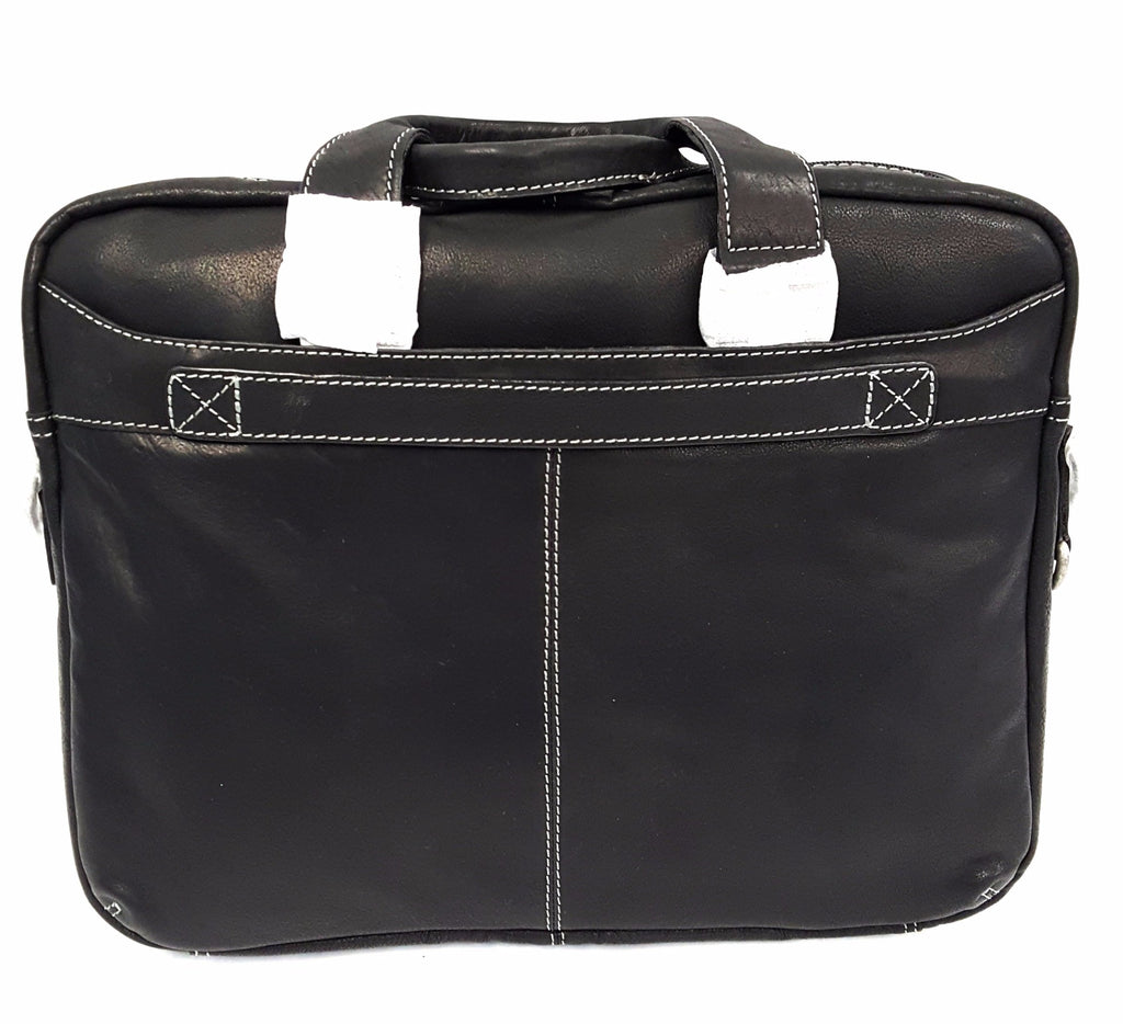 70d91fca09eff Kenneth Cole The Op-Port-unity Leather Black Briefcase