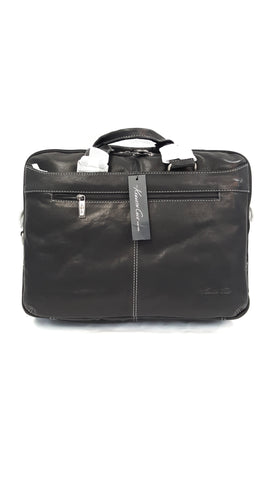 Kenneth Cole The Op-Port-unity Leather Black Briefcase buymi