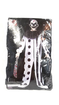 Fun World Halloween Evil Killer Clown 3pc Child Costume White Black buymi