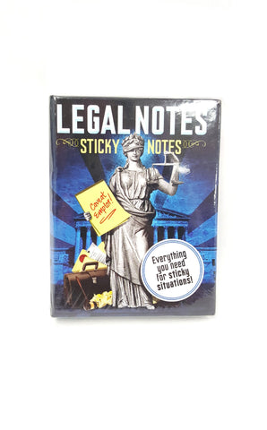 Legal Notes Sticky Notes Booklet By The Unemployed Philosophers Guild buymi