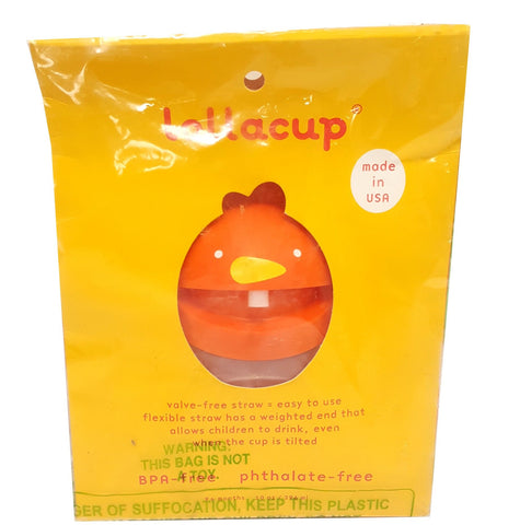 Lollacup Lollaland Infant Toddler Weighted Straw Sippy Cup orange buymi