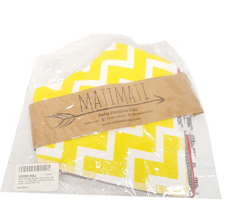 Matimati Baby Bandana Drool Bibs with Snaps 4-Pack Cotton buymi