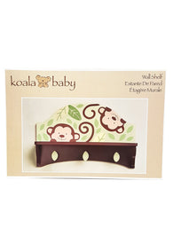 Monkey Wall Shelf with Hooks for Keepsakes Koala Baby Decorative buymi
