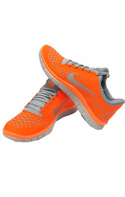 Nike Free 3.0 V4 Orange Silver Grey buymi