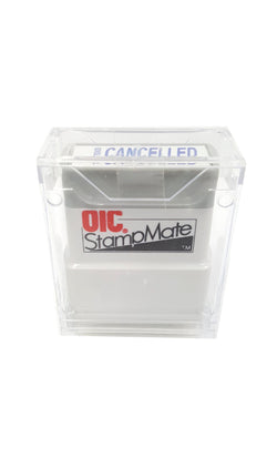 Cancelled Pre-Inked Stamp Message Blue Refillable Officemate Office buymi