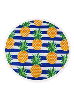 Pineapple Beach Towel Navy Stripes buymi