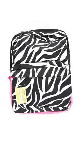 JGarden Children's and Teens' Zebra Print School Backpack Fuchsia buymi