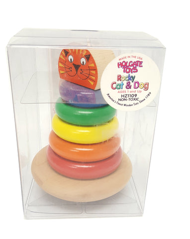 Rocky Cat and Dog Wooden Stacking Toy buymi