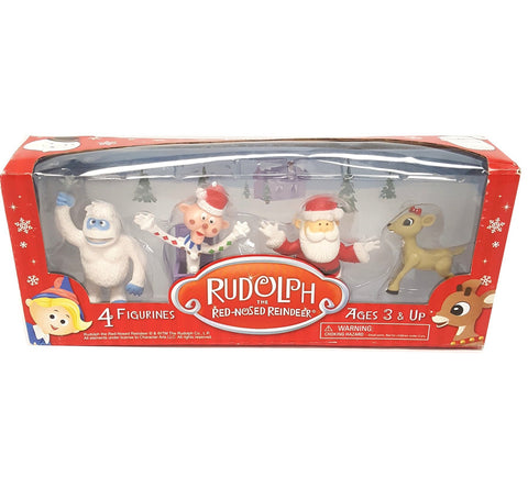 Rudolph 4 Pack Figurine Set Santa Clarice Charlie Bumble buymi