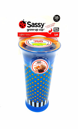 Sassy Grow Up Cup No Spout No Spill Design 12 oz 18 months buymi