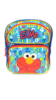"Sesame Street Elmo Red Medium Backpack Bag Tote 14"" buymi"