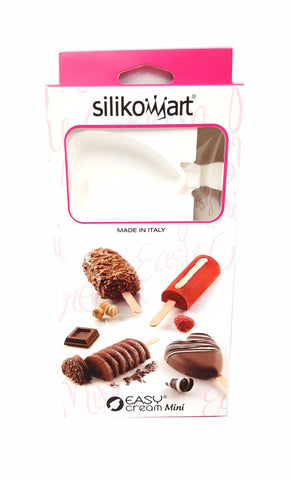 Silikomart 196383 Mini Ice Cream Finger Food Mold Heart White buymi