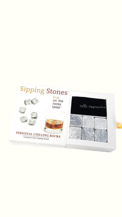 Sipping Stones Whiskey Rocks Set of 6 Grey Gift Set Grey buymi