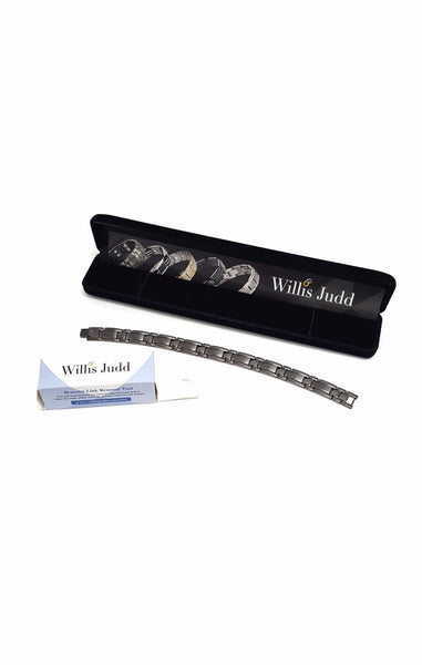 Titanium Magnetic Therapy Bracelet For Arthritis Pain Relief Size Adjusting Tool By Willis Judd buymi