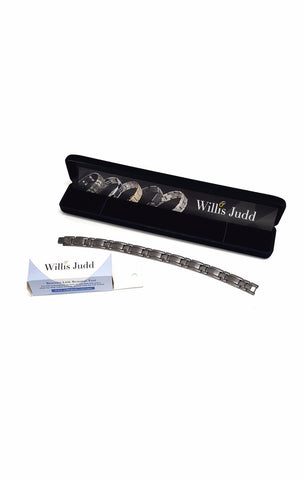 ad8b515abcf2e Titanium Magnetic Therapy Bracelet For Arthritis Pain Relief Size Adjusting  Tool By Willis Judd buymi