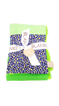 Trend Lab Receiving Blanket Multi Patched Blue Green Yellow buymi