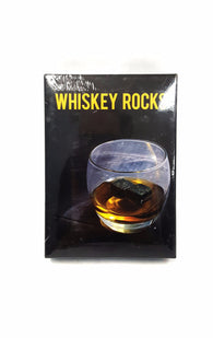 Whisky Chilling Stone Rocks Premium Pure Granite Set of 9 Black buymi