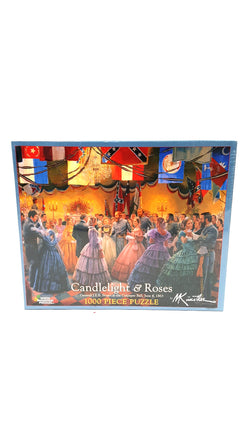 White Mountain Puzzles Candlelight & Roses Jigsaw Puzzle 1000 Piece buymi