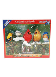 Cardinals and Friends 550 Piece Jigsaw Puzzle Birds buymi