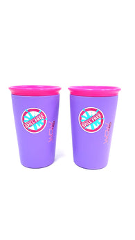 Wow Cup for Kids Innovative 360 Spill Free Drinking Cup BPA Free 9 Ounce 2 Cups buymi