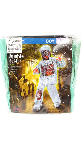 Zombie Doctor Child Costume 8-10 buymi