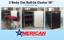 American Mortuary Cooler pictured in upgraded black exterior
