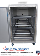 Three Body Oversized Mortuary Cooler with Interior Rolling Rack  Model# 3BX