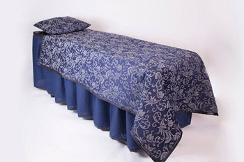 ID Viewing System works with dressing tables, cots, and embalming tables in Bristol Navy Colored Pattern