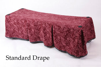 Premium Church Truck Drape in Burgundy Patterned Color