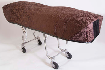 Premium Quilted Mortuary Cot Cover + Matching Lined Pillow Case in Bristol Brown Pattern