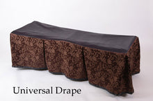 Premium Church Truck Drape in Cocoa Patterned Fabric