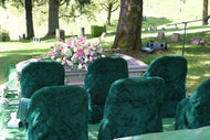 Cemetery Chair Covers 1 Dozen Covers w/ Embroidery Included