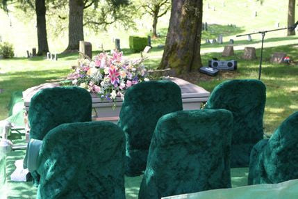 Cemetery Chair Covers 1 Dozen No Embroidery