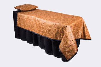 ID Viewing System works with dressing tables, cots, and embalming tables Copper Pattern Fabric
