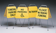 Folding Funeral Traffic Signs 1 Set