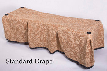 Premium Church Truck Drape in Gold Patterned Fabric