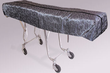 Premium Mortuary Cot Pouch (Full Zip) Multi-Color Gray Patterned Fabric