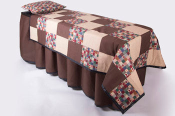 ID Viewing System works with dressing tables, cots, and embalming tables in Brown Harvest Quilted Patterned