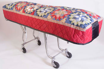 Premium Quilted Mortuary Cot Cover + Matching Lined Pillow Case in Hometown Star Quilted Pattern
