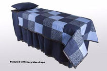 ID Viewing System works with dressing tables, cots, and embalming tables Blue Quilt Fabric