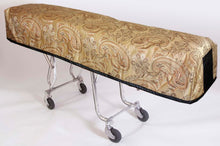 Premium Quilted Mortuary Cot Cover + Matching Lined Pillow Case in Kingsley Gold Fabric