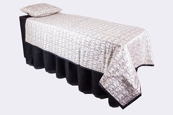 ID Viewing System works with dressing tables, cots, and embalming tables Middleton Silver Pattern Fabric