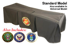 Premium Church Truck Drape in Military Service Set in Black Fabric