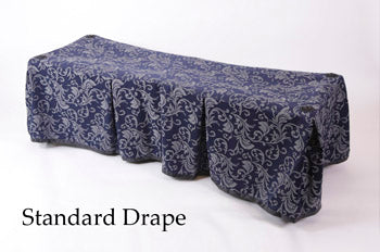 Premium Church Truck Drape in Navy Blue Patterned Fabric