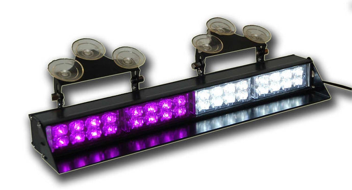 High Output Window Mount Strobe Bar Purple and White 17